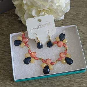 Charming Charlie Statement Necklace set, NWT